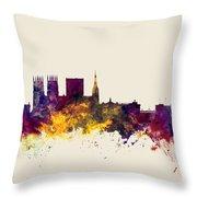 York England Skyline Throw Pillow