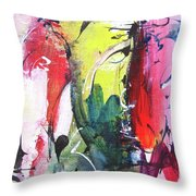Abstract Landscape Painting Throw Pillow