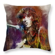Jimmy Page. Led Zeppelin. Throw Pillow