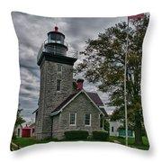 30-mile Point Lighthouse 3197 Throw Pillow