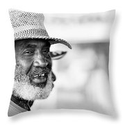 Roatan People Throw Pillow
