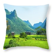 Rural Scenery In Summer Throw Pillow