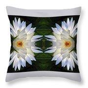 White Lotus Mandala Throw Pillow