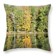 3007-fall Waterscape Throw Pillow