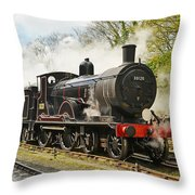 Steam Train At Rest. Throw Pillow