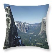 306754 Yosemite Valley From Union Point  Throw Pillow