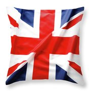 British Flag 6 Throw Pillow