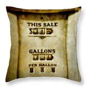 31 Cents A Gallon Throw Pillow