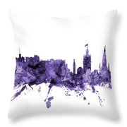 Edinburgh Scotland Skyline Throw Pillow