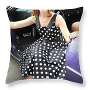 Fashion Model. Throw Pillow