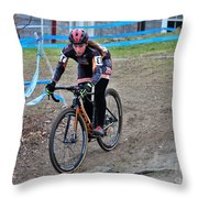 Fearless Femme Racing Throw Pillow