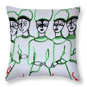Five Wise Virgins Throw Pillow
