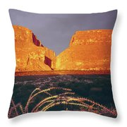 317828 Sunrise On Santa Elena Canyon  Throw Pillow