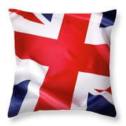 British Flag 7 Throw Pillow