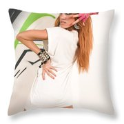 Cool Hip-hop Dancer Throw Pillow