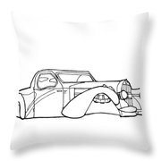 32 Ford Roadster Throw Pillow