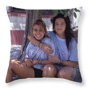 Cuidad Juarez Mexico Color From 1986-1995 Throw Pillow