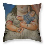 Bogota Museo Botero Throw Pillow