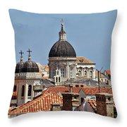 Dubrovnik Croatia Throw Pillow