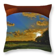 33- Window To Paradise Throw Pillow