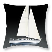 33b Gallant Sailing Throw Pillow