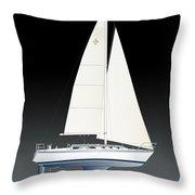 33b Gallant Sailing Throw Pillow
