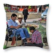 Comitan De Las Flores Throw Pillow