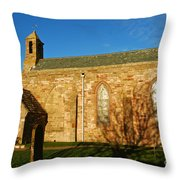 Lindisfarne Priory Throw Pillow