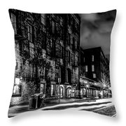 Savannah Georgia Waterfront And Street Scenes  Throw Pillow