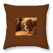 Walton Henry A Country Maid Henry Walton Throw Pillow