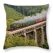 34067 Tangmere Crossing St Pinnock Viaduct. Throw Pillow