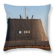 343 Uss Clamagore Diesel Throw Pillow