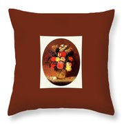 bs-flo- James Henry Wright- Flower Still Life James Henry Wright Throw Pillow