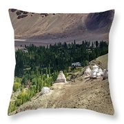 Landscape Of Ladakh Jammu And Kashmir India Throw Pillow