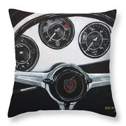356 Porsche Dash Throw Pillow