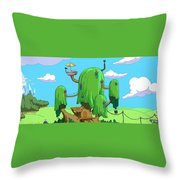 35666 Adventure Time Throw Pillow