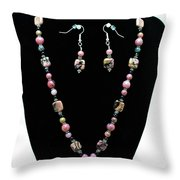 3571 Rhodonite Set Throw Pillow