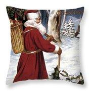 American Christmas Card Throw Pillow
