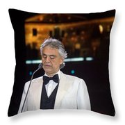 Andrea Bocelli In Concert Throw Pillow