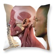 Facial Muscles Throw Pillow