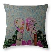 Kintu And Nambi  Folktale Throw Pillow