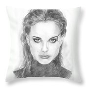 Natalie In Black Throw Pillow