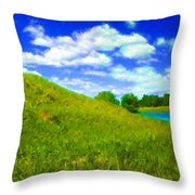 Pictures Of Oil Paintings Landscape Throw Pillow