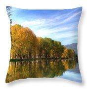 S Landscape Throw Pillow