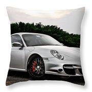 360 Forged Porsche 997tt 2 Throw Pillow