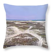 360 Panorama Of Sandy Neck Throw Pillow