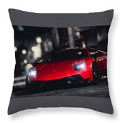 36619 Lamborghini Murcielago Throw Pillow