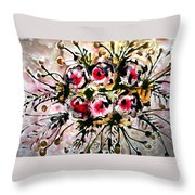 Divine Blooms Throw Pillow
