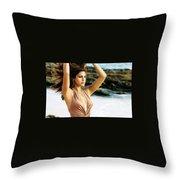 Eva Mendes Throw Pillow