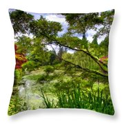 Landscape Show Throw Pillow